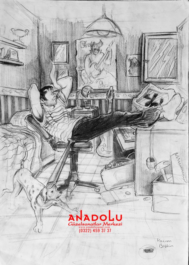 Anadolu Sanat İmgesel Çizimler Antalyada
