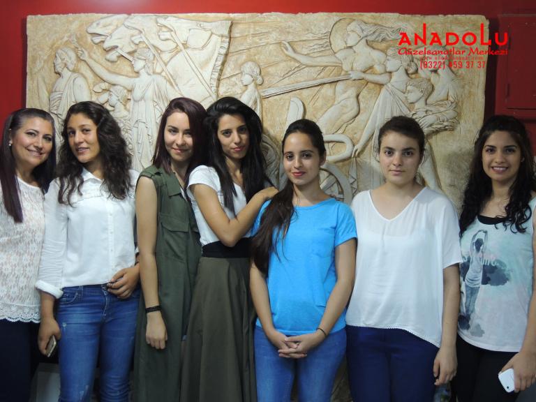 Anadolu Güzel Sanatlar Öğrencileri Antalyada