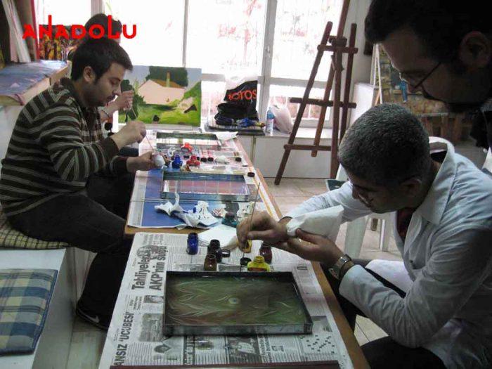 Ebru Kursunda Çalışanlar Antalyada