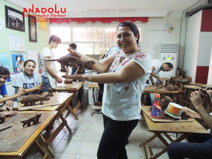 Hobi Grubu Heykel Dersleri Antalyada