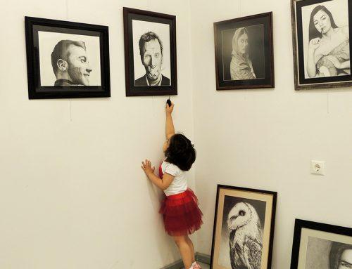Antalyadaki Büyükşehir Belediyesinde Açılan Hazırlık Sanat Sergisi
