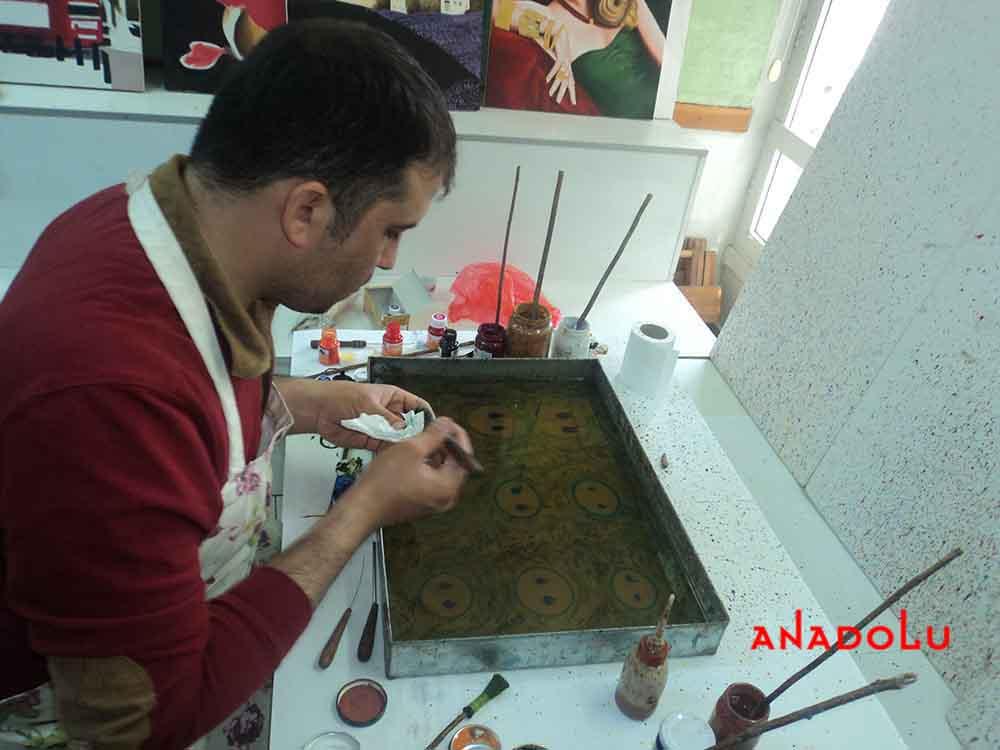 Antalyada Yetişkinler İçin Ebru Eğitimleri