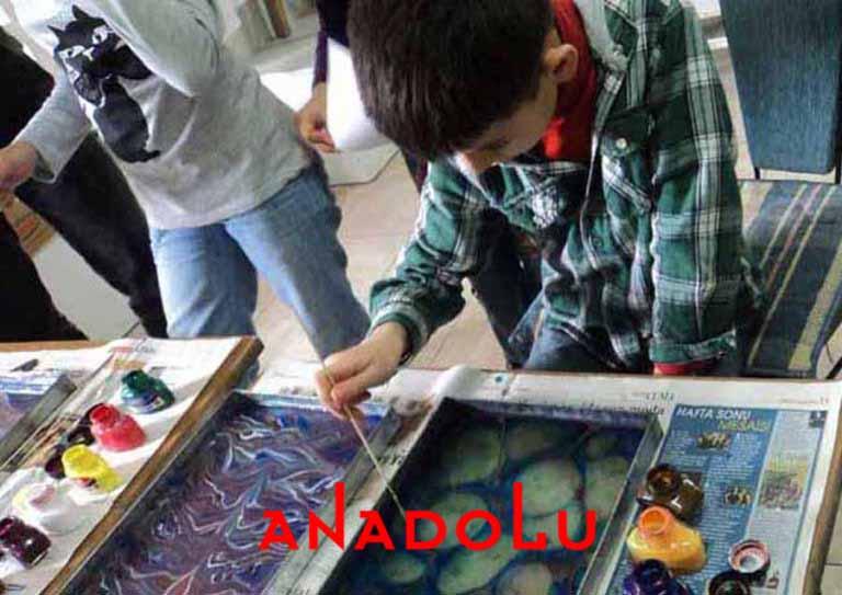 Çocuklara Yönelik Ebru Kursları Antalyada