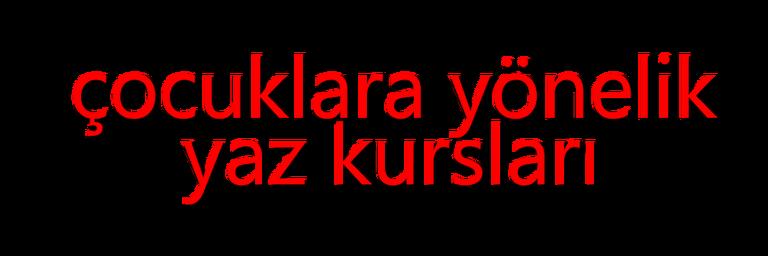 Çocuklara Yönelik Yaz Eğitimleri Antalyada