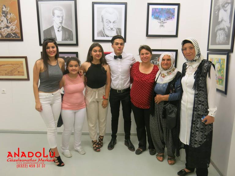 Anadolu Güzel Sanatlarda Kazanan Öğrencilerin Sergisi Antalyada