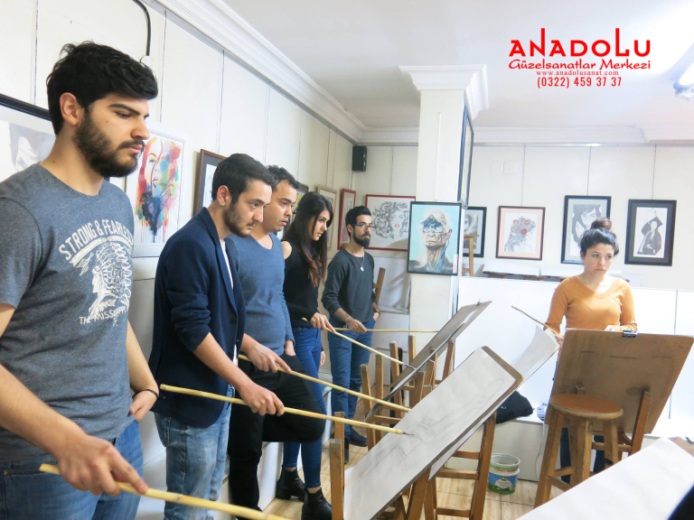 Güzel Sanatlar Fakülteleri İçin Karakalem Kursları Antalyada