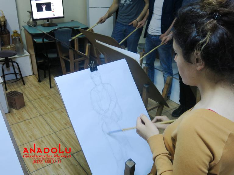 Güzel Sanatlara Hazırlık Desen Dersleri Antalyada