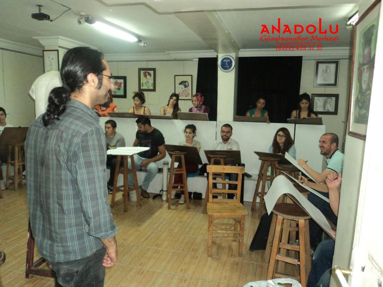 Anadolu Güzel Sanatlarda Karakalem Kursları Antalyada