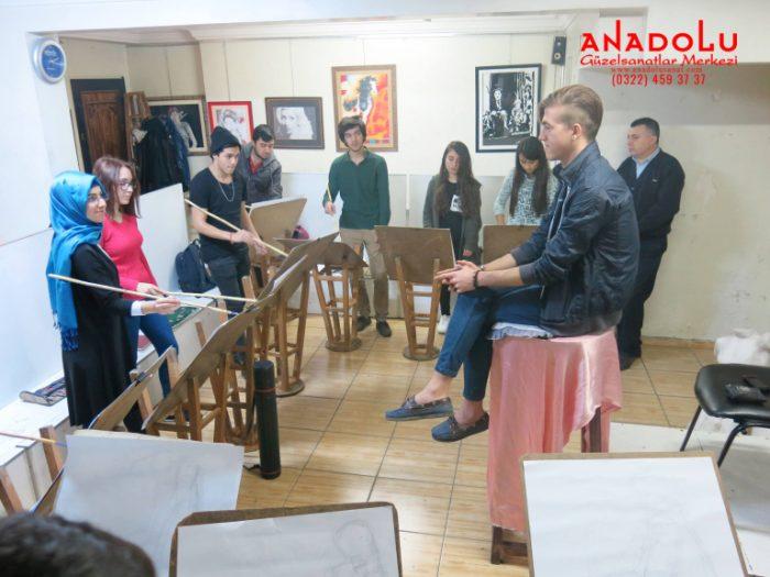 Antalyada Anadolu Güzel Sanatlarda Modelden Desen Çizim Eğitimleri