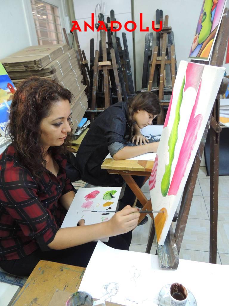 Hobi Grupları Yaglıboya Dersleri Antalyada