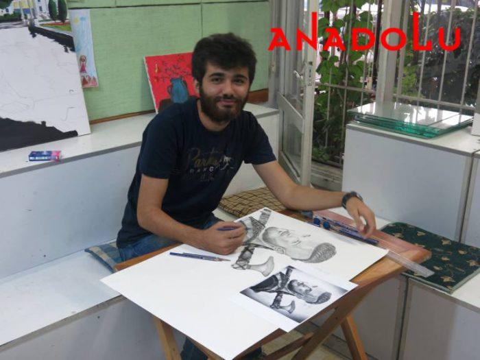 Karakalem Çalışan Hobi Grubu Çizimleri Antalyada