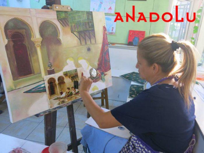 Yağlıboya Manzara Çalışmaları Hobi Grupları Antalyada