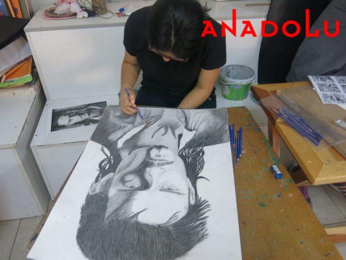 Karakalem Erkek Potre Çalışmaları Antalyada