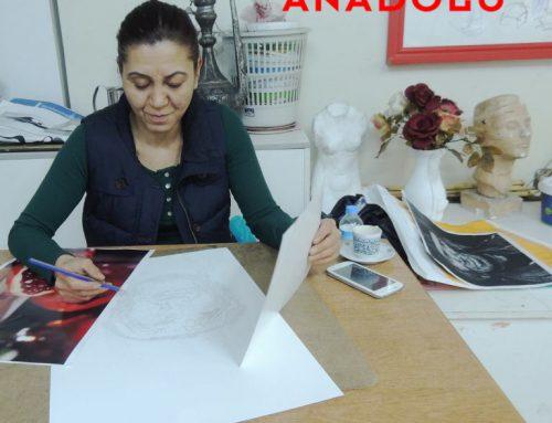 Antalyadaki Yağlı Boya Çizim Teknik Çalışmaları