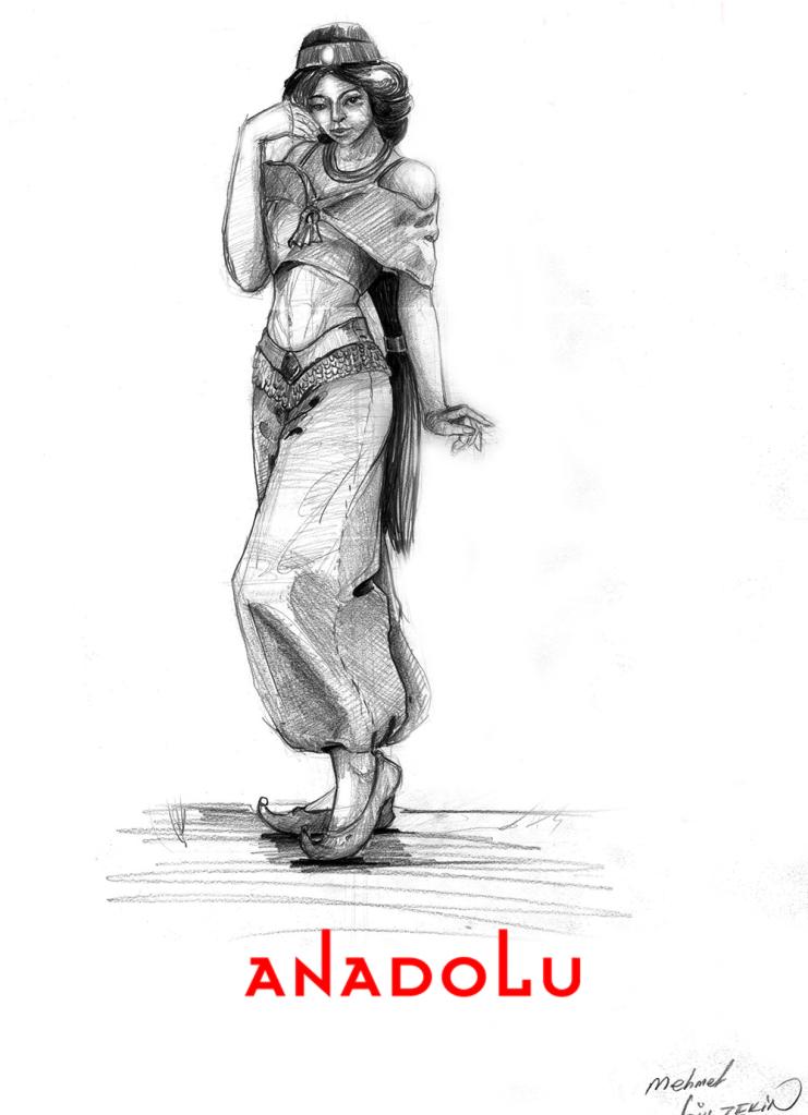İmgesel Karakalem Kadın Çizimi Antalya