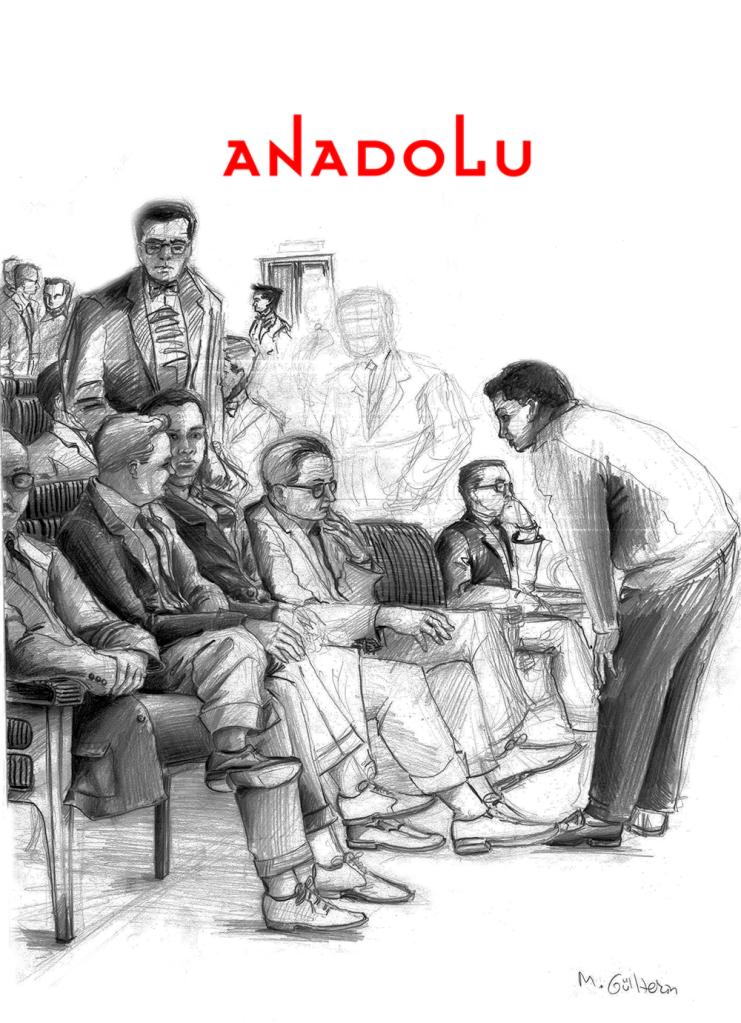 Antalyada Karakalem Toplantı Çizimi