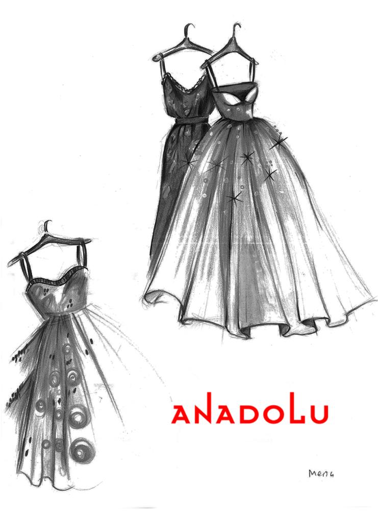 Karakalem Elbise Model Çalışmaları Antalyada