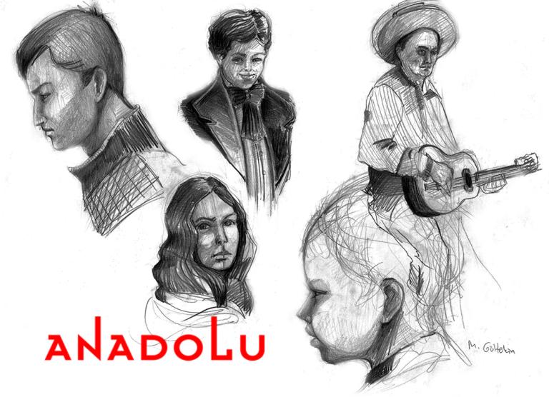 Karakalem İnsan Çizim Çalışmaları Antalyada