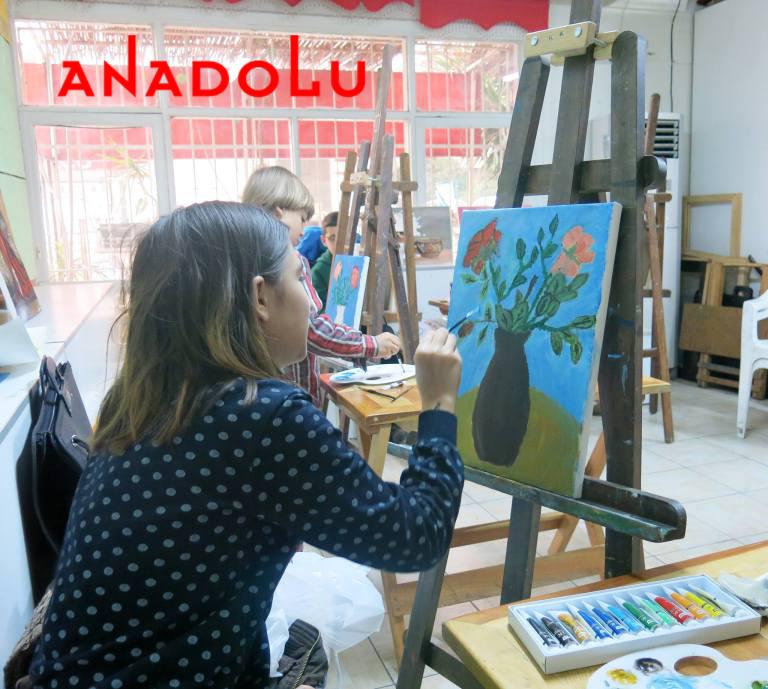 Yağlı Boya Yapan Çocuklar Antalyada